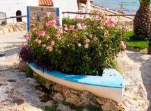 Шлюпка с цветками Стоковое Фото