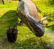 Шлюпка тангажа деревянная Стоковая Фотография