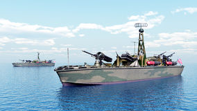 Шлюпка торпедо США Второй Мировой Войны Стоковые Фото