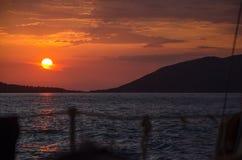 Шлюпка формы Солнця Стоковое Изображение