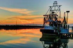 Шлюпка HDR креветки Луизианы Стоковое Изображение