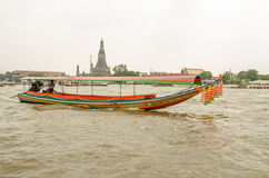 Шлюпка Longtail, Бангкок стоковые изображения