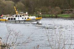 Шлюпка MS Bussard в пользе для предохранения от воды Стоковое Фото