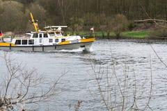 Шлюпка MS Bussard в пользе для предохранения от воды Стоковое Изображение RF