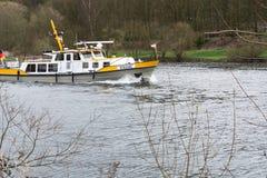 Шлюпка MS Bussard в пользе для предохранения от воды Стоковая Фотография