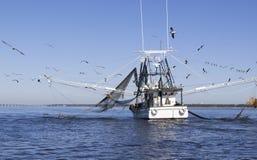 Шлюпка Shrimping побережья мексиканского залива Стоковое фото RF