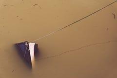 Шлюпка Sunked на пакостной воде стоковое фото