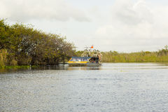 Шлюпки вентилятора болотистых низменностей Стоковое Фото
