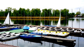 Шлюпки в Дунае Стоковые Фотографии RF