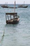 Шлюпки в Индийском океане в архипелаге Занзибара formerly стоковое изображение