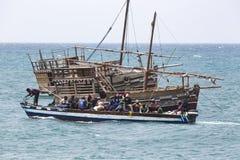Шлюпки в Индийском океане в архипелаге Занзибара formerly стоковое изображение rf
