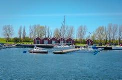Шлюпки в Марине, Гетеборге, Швеции Стоковое Фото