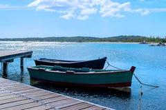 Шлюпки в море Стоковое Фото