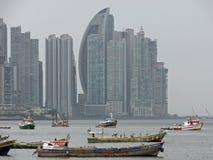 Шлюпки в Панама (город) Стоковое фото RF