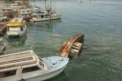 Шлюпки в порте Нассау Стоковая Фотография RF