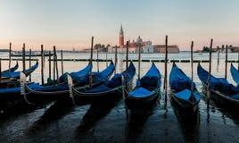 Шлюпки гондолы на Венеции Стоковое Изображение RF
