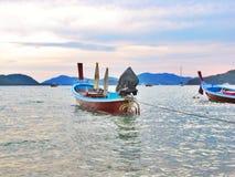 Шлюпки и море Стоковая Фотография