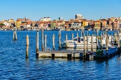 Шлюпки на гавани в Chioggia, Италии Стоковые Изображения RF