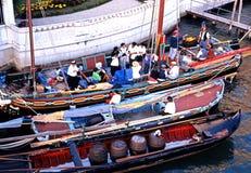 Шлюпки на грандиозном канале, Венеции Стоковые Изображения