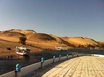Шлюпки на Ниле в Асуане, Египте Стоковое Изображение RF