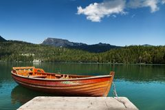 Шлюпки на озере Стоковое Изображение