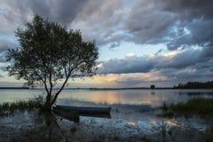 Шлюпки на озере Стоковые Фото