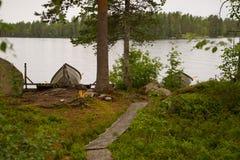 Шлюпки на озере Стоковая Фотография RF