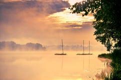 Шлюпки на озере Стоковое Изображение RF