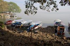 Шлюпки на озере Tana Стоковые Изображения