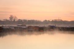Шлюпки на реке Темзе в Оксфорде Стоковая Фотография RF