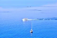 Шлюпки на Ligurian побережье Италии Стоковое Изображение