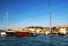 Шлюпки на St Tropez стоковое фото rf