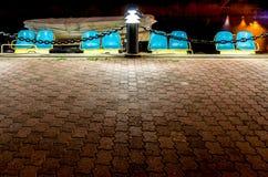 Шлюпки педали на ноче Стоковые Фото
