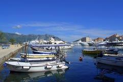 Шлюпки порта Budva, Черногория Стоковая Фотография