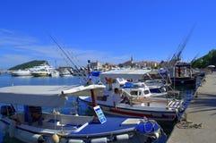 Шлюпки порта Budva, Черногория Стоковая Фотография RF