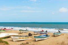 Шлюпки рыболова в El Rompio, Панаме Стоковое Изображение