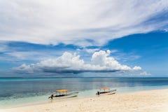 Шлюпки рыболова, остров Занзибара, Танзания Стоковая Фотография RF