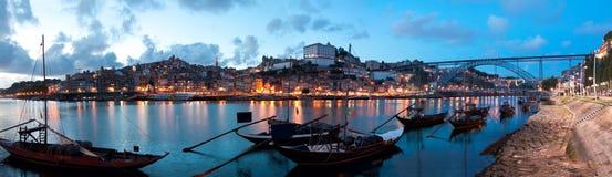 Шлюпки Rabelo в Порту, Португалии Стоковые Изображения RF