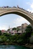 Шлямбуры моста в Мостаре Стоковые Изображения
