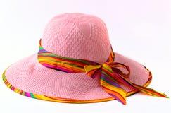 Шляпа дамы на белой предпосылке Стоковое Изображение RF
