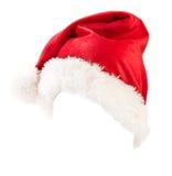 Шляпа красного цвета Санта Клауса стоковые изображения