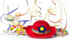 Шляпа масленицы, confetti, украшение Стоковое Фото
