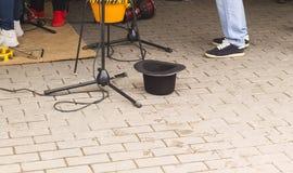 Шляпа музыкантов улицы Стоковые Фото