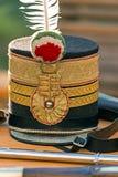 Шляпа на венгерском офицере пехоты Стоковая Фотография