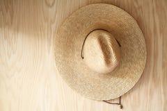 Шляпа на древесине Стоковое фото RF