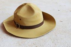Шляпа разведчика мальчика Стоковые Фото