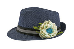 Шляпа с цветком Стоковая Фотография RF