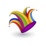 Шляпа шута шаржа с колоколами Стоковое Изображение