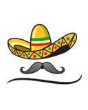 Шляпа Sombrero мексиканская Стоковая Фотография