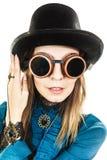 Шляпа steampunk девушки нося Стоковое фото RF